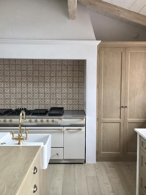 image result for kitchen range and cabinets Malibu Mediterranean Modern Farmhouse Giannetti Home