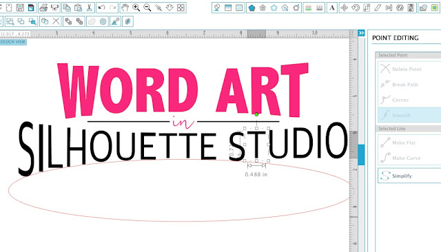 Silhouette Studio word art, silhouette studio text bridge, silhouette studio fonts