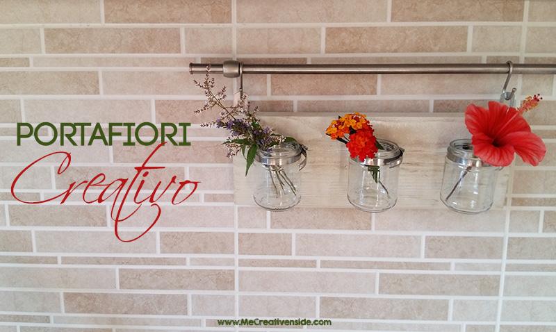 Me CreativeInside pallet legno portafiori fiori barattoli