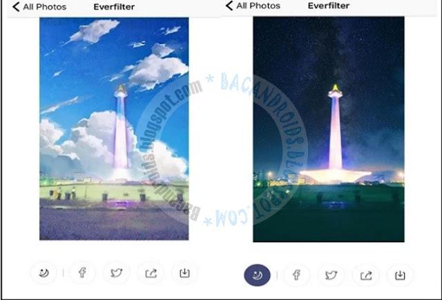 Everfilter Aplikasi Edit Foto menjadi kartun Anime