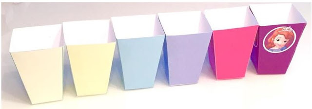 Free Printable Popcorn Boxes in Colors.