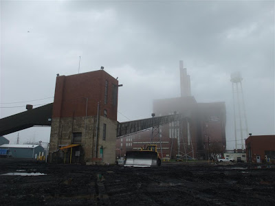 consumers energy coal burning power plant, erie, monroe michigan, ce plant, lake erie