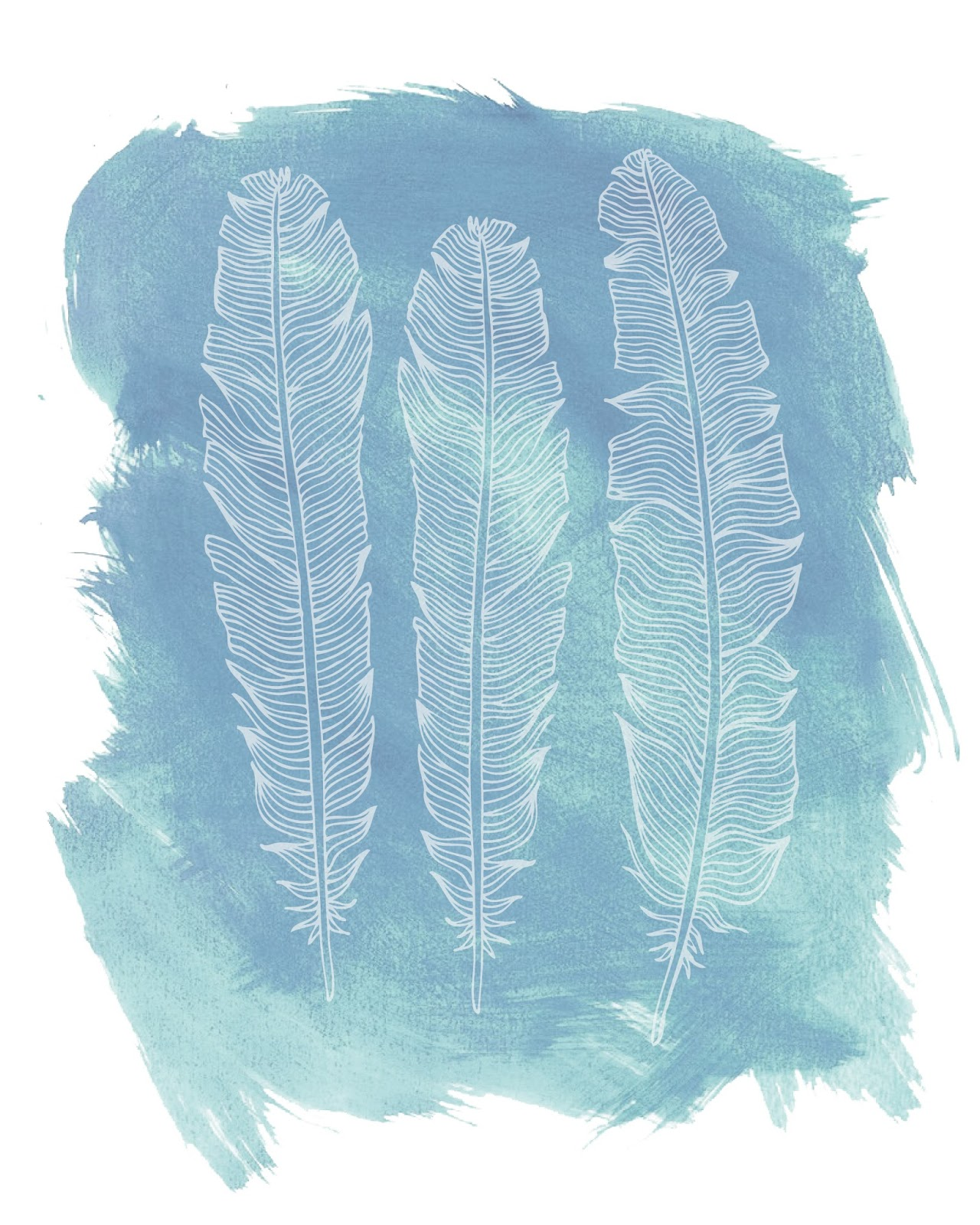Freebies Feather Printables