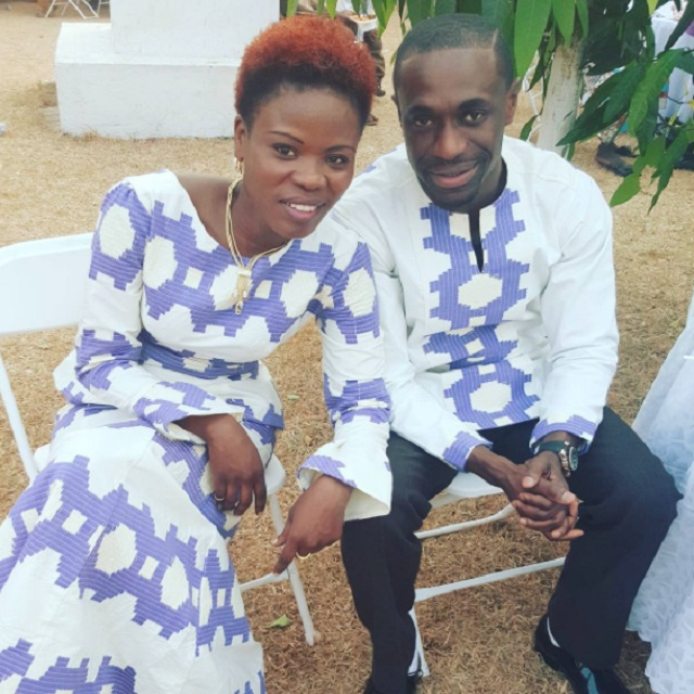 Ohemaa Woyeje and fiancé.