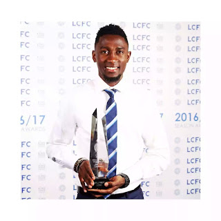Nigerian born Wilfred Ndidi Wins Leceister Young Player Award