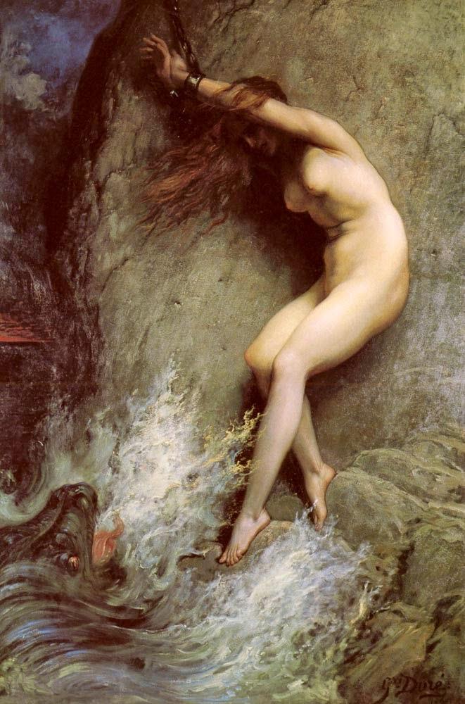 Andrômeda - Gustav Doré e suas pinturas ~ Pintor, desenhista e inlustrador francês
