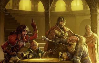 D&D characters arguing