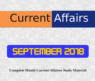 SEPTEMBER 2018 : Complete Month CA Study Material
