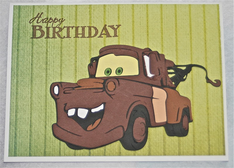 Imagine What You Could Do Tow Mater Birthday Card