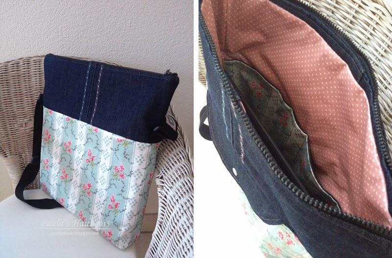 wachstuch jeans tasche. Black Bedroom Furniture Sets. Home Design Ideas
