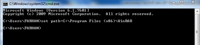 Cara Extract File RAR dan ZIP Menggunakan CMD   amatirkode