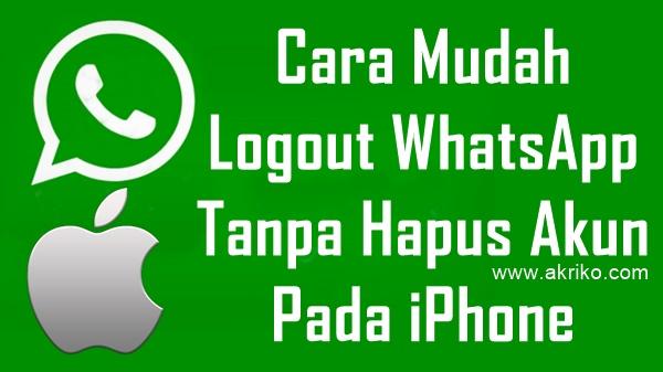 Cara Logout WhatsApp Tanpa Hapus Akun Pada iPhone