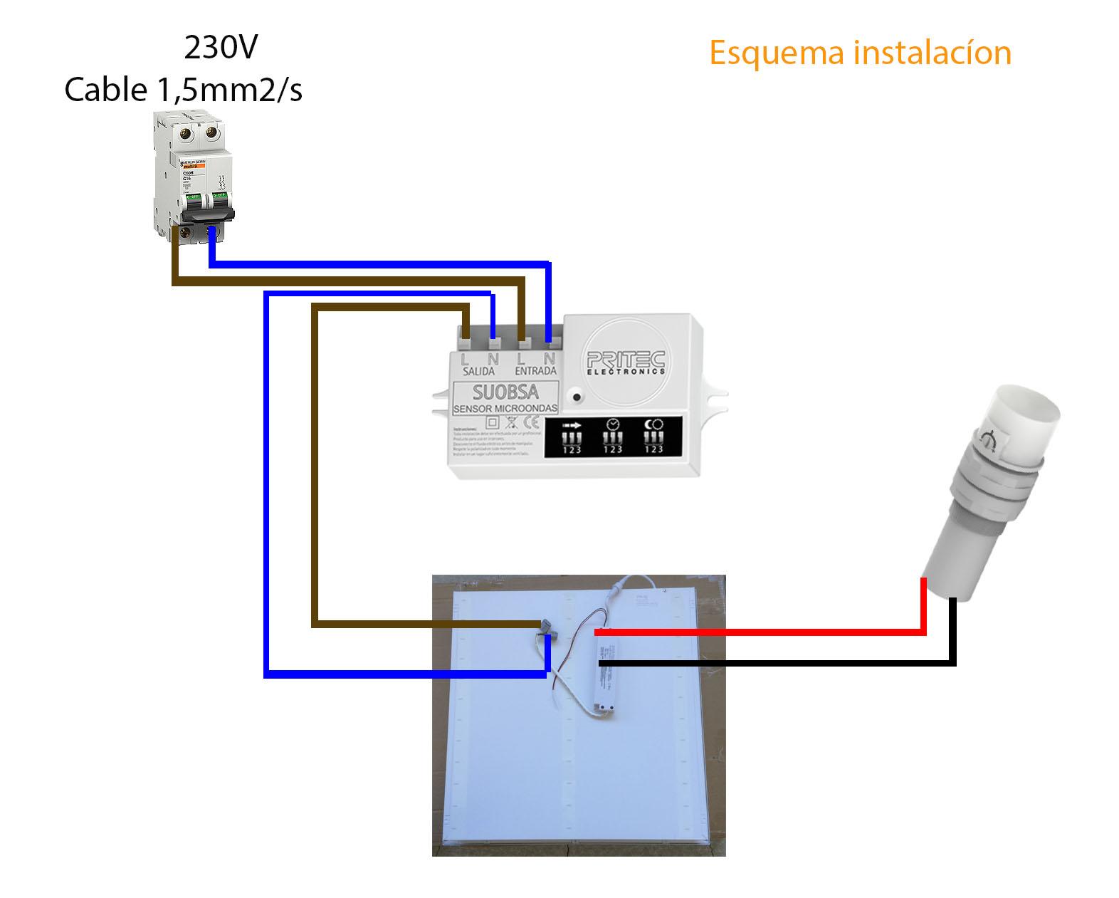 Reparalo tu mismo como instalar pantalla led con sensor - Como conectar un sensor de movimiento de tres cables ...