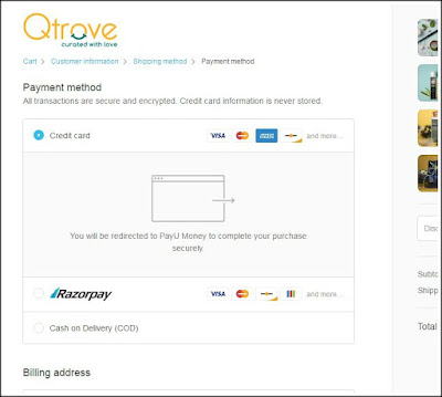 Qtrove.com- Website Review, Shopping Haul & Discount coupon