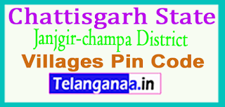 Janjgir-champa District Pin Codes in Chattisgarh State