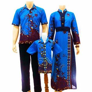 model baju batik sarimbit keluarga modis