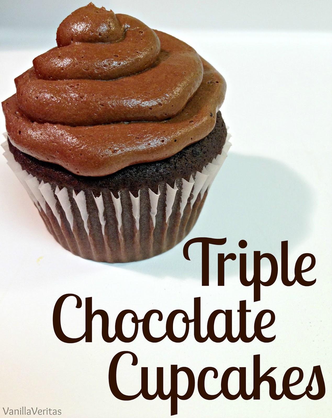 chocolate | cupcakes | cocoa | triple chocolate cupcakes | double chocolate | dutch chocolate | chocolate cupcake | death by chocolate | chocolate filling | ganache | buttercream | icing | frosting | cake | dessert | dark chocolate