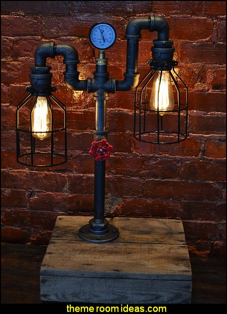 Industrial style decorating ideas - Industrial chic decorating decor - Gears decor - City living urban style - Modern Industrial - Industrial urban loft decorating ideas - industrial bedroom ideas