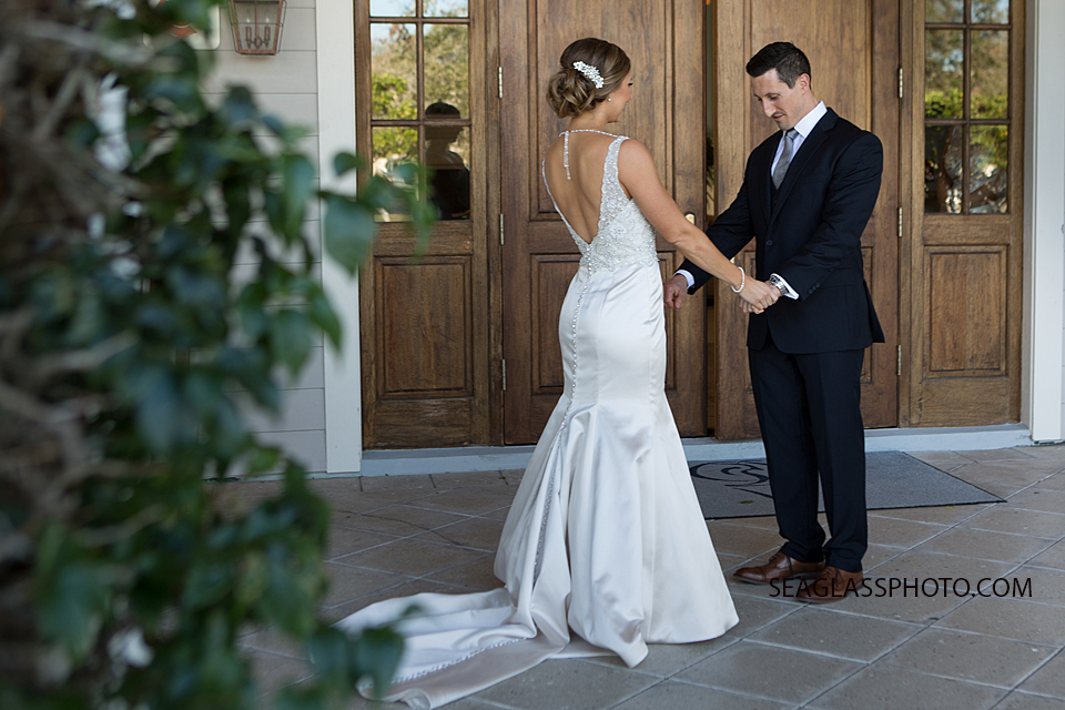 Moment Between Bride And Groom At Quail Valley Vero Beach Florida