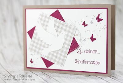 Glückwunschkarte Kommunion; Konfirmationskarte; Karte zur Firmung; Karte mit Taube; Kommunionsdeko, Kommunionskarte Mädchen; Karte zur Taufe
