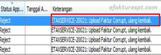 eFaktur Error ETAXSERVICE-20021 : Upload Faktur Corrupt, Ulang Kembali