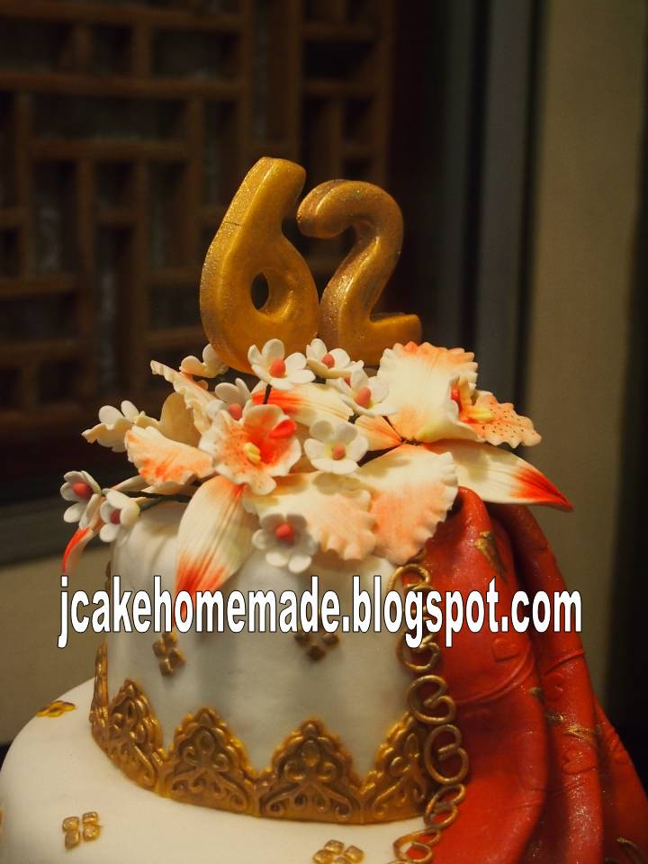 Jcakehomemade Sari Birthday Cake