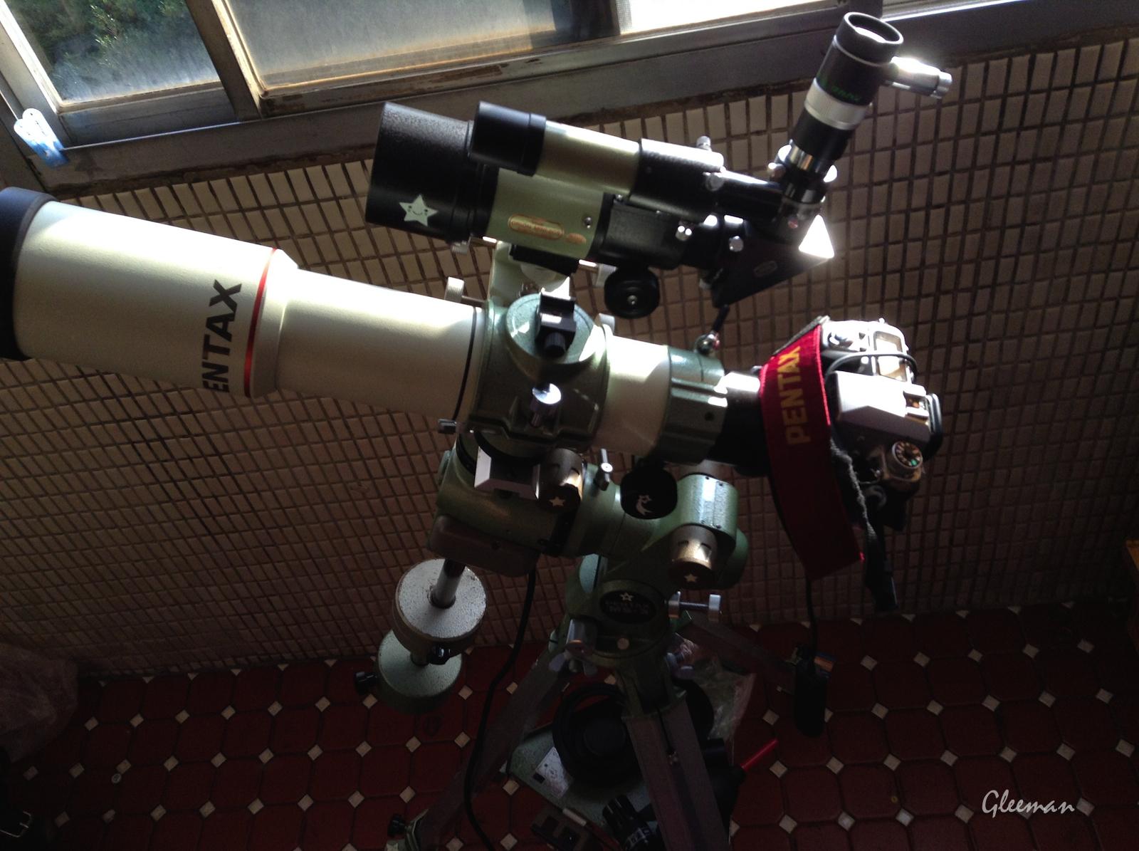 使用Pentax M3-3 赤道儀進行手動導星追蹤攝影