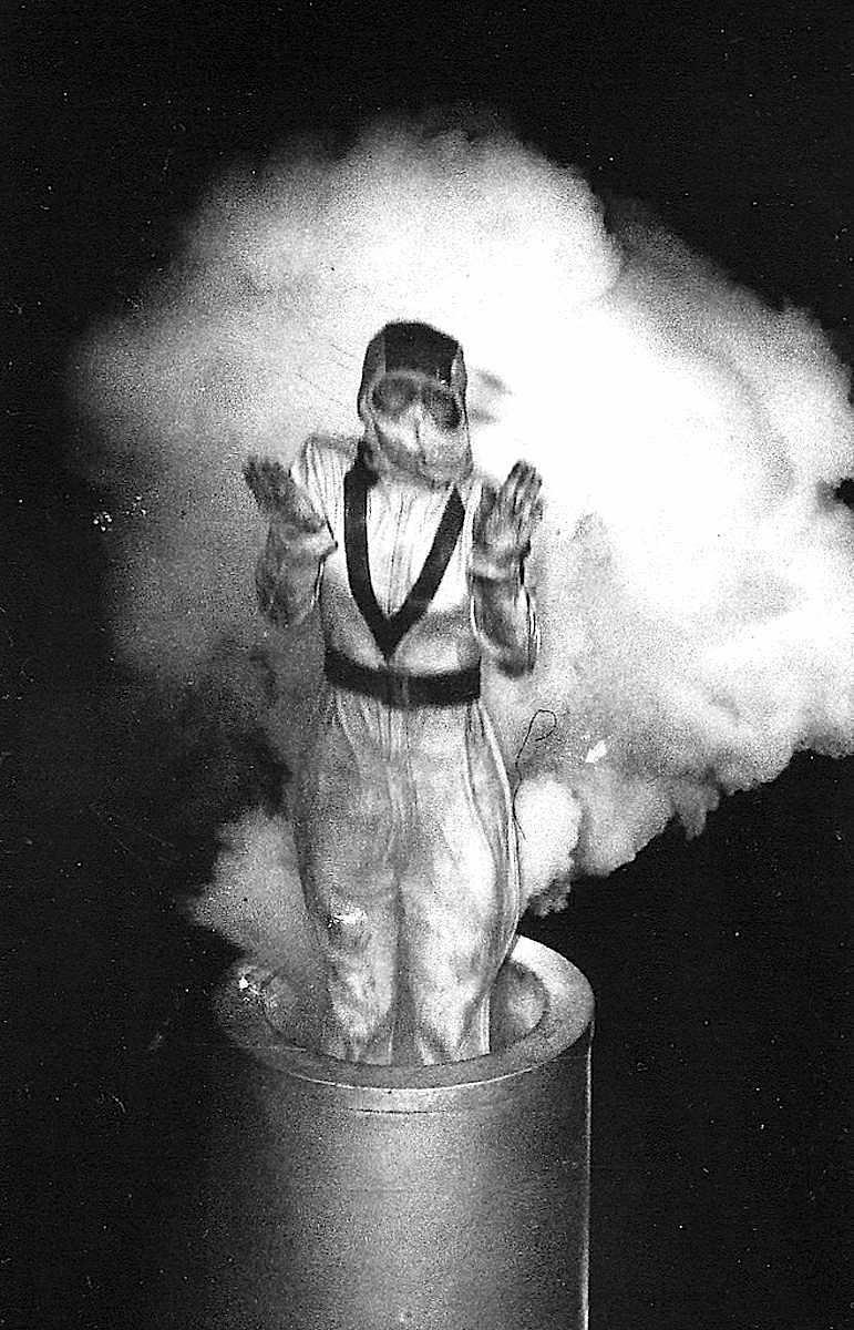 Weegee (Arthur Fellig), a human canonball photograph