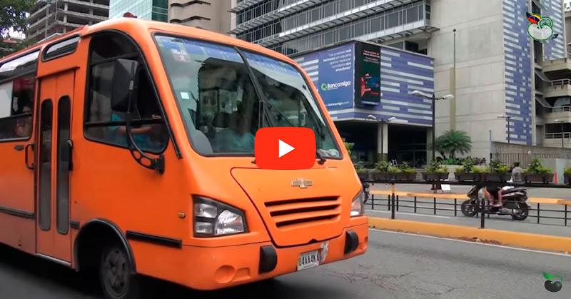 35 personas atracadas dentro de un autobús en Chacao - Ya no podemos más