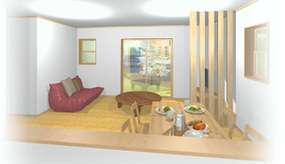 自然素材の家、完成見学会 四日市市