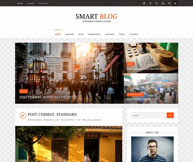 Smart Blog - Wordpress Theme For Personal Blog