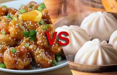 Comparación de platillos chinos de comida tradicional vs americanizada