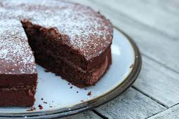 Gluten-free Vegan Chocolate Cake #cakerecipe #chocolate