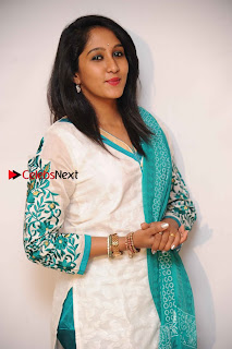 Kannada Actress Nikhila Stills in White Embroidery Salwar Kameez at Srinivasa Kalyana Movie Press Meet  0006.jpg