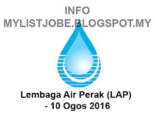 Jawatan Kosong Terkini di Lembaga Air Perak (LAP)