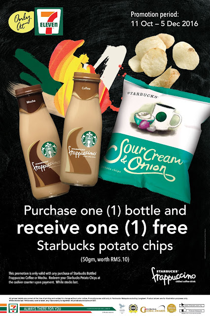 7-Eleven Malaysia FREE Starbucks Potato Chips Promo