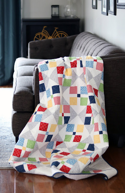 Cut Glass quilt pattern from the Fresh Fat Quarter Quilts book by Andy Knowlton of A Bright Corner