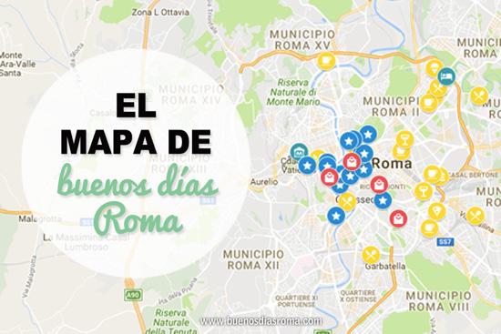 buenos días Roma - El mapa de Roma