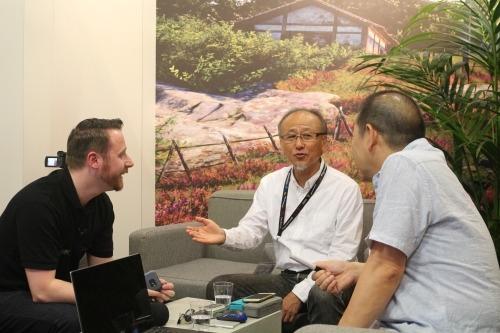 Peter from the Shenmue Dojo with Hideaki Morishita & Yu Suzuki