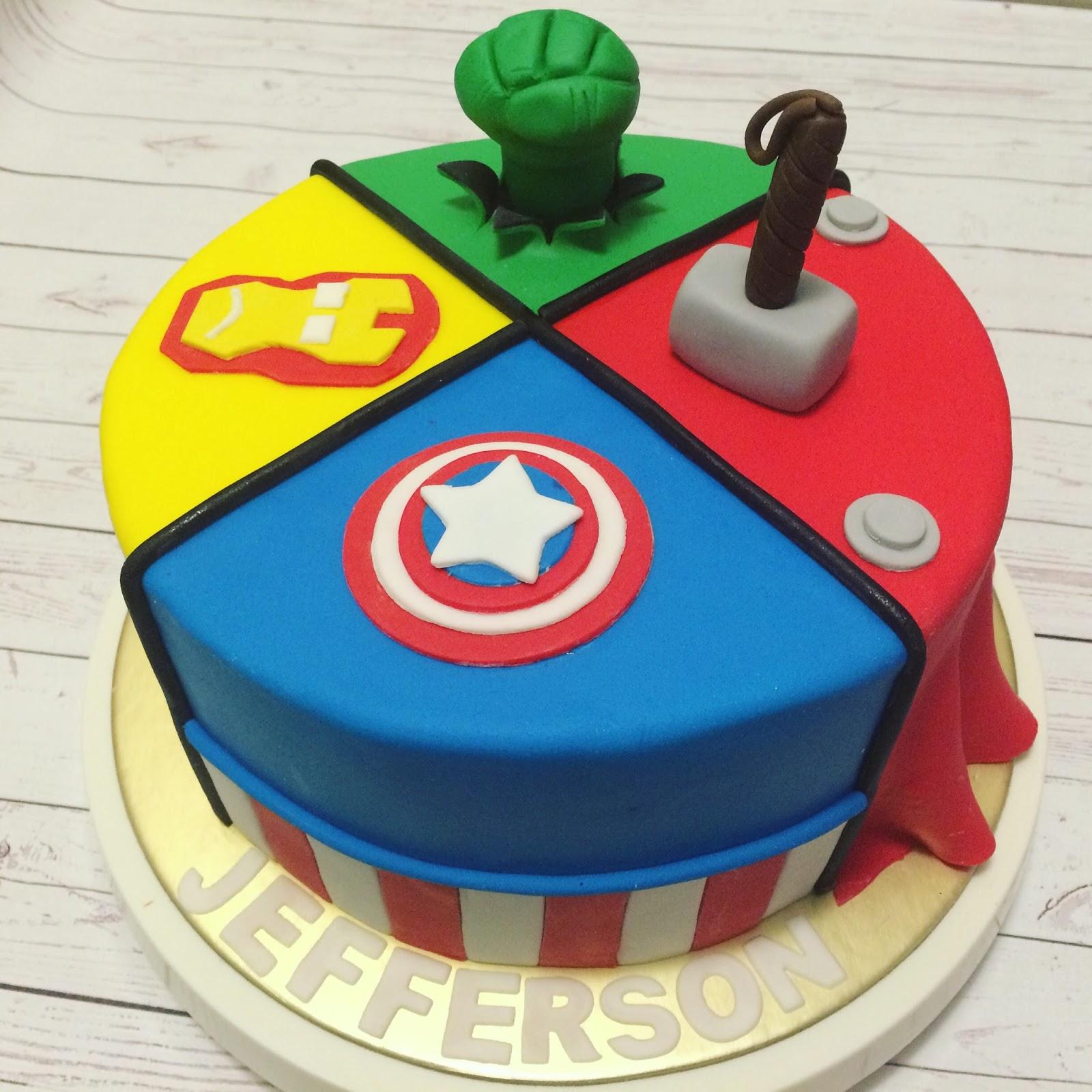 Avengers Cake Crissas Cake Corner