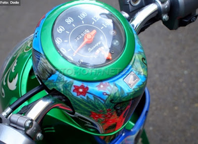 Foto Modifikasi Honda Scoopy Motif Peri Unyu