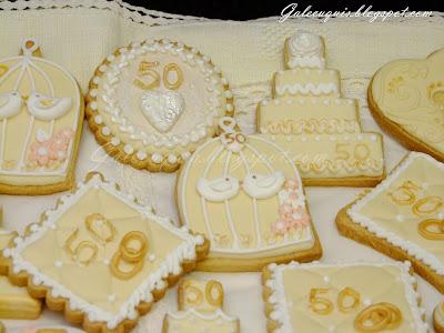 Galletas decoradas bodas de oro