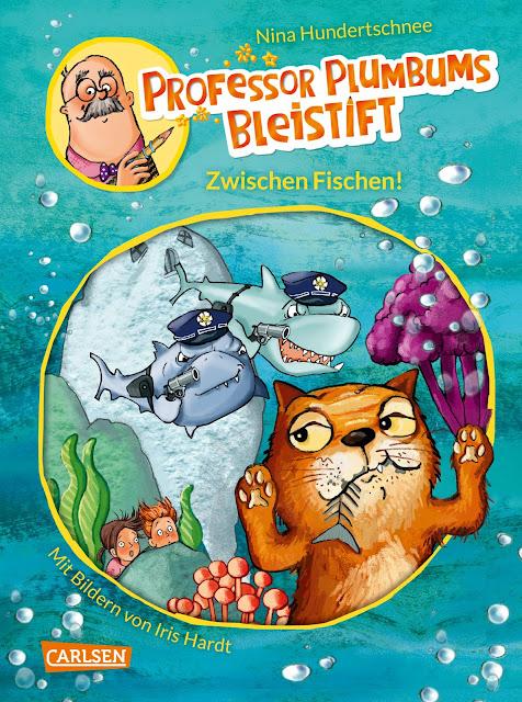 """Heute ein Buch! In der Welt der Phantasie unterwegs mit """"Professor Plumbums Bleistift"""". In Band 2 """"Zwischen Fischen!"""" erleben die Kinder Abenteuer unter Wasser."""