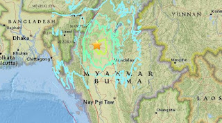 Earthquake measuring 6.9 in magnitude jolts Myanmar