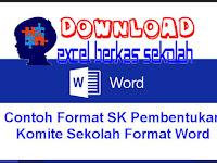 Contoh Format SK Pembentukan Komite Sekolah Format Word yang baik dan benar