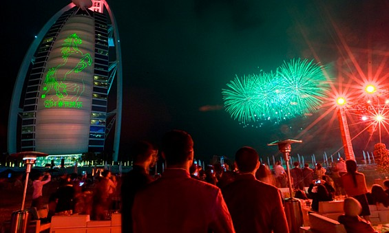 Happy New Year Celebration in Dubai