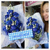 Bunga Tangan Mawar Biru Spray