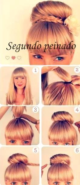Peinados lindos y faciles paso a paso elainacortez - Como hacer peinados faciles y rapidos paso a paso ...