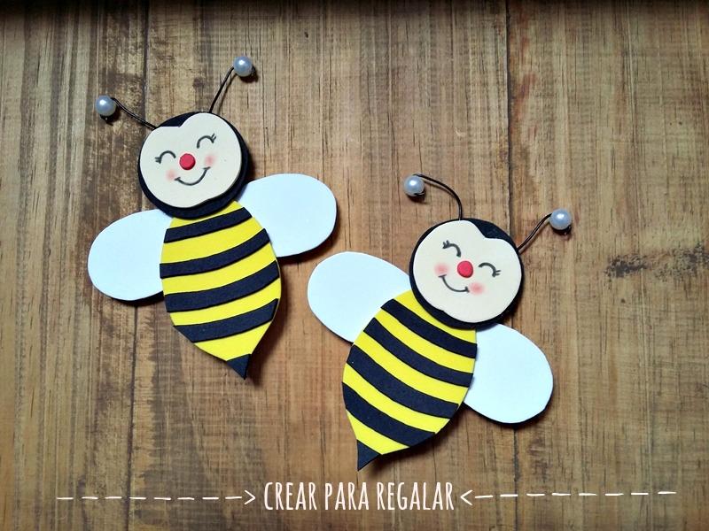 broche abeja goma eva manualidades