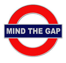 Mind the gap - on London Tube logo